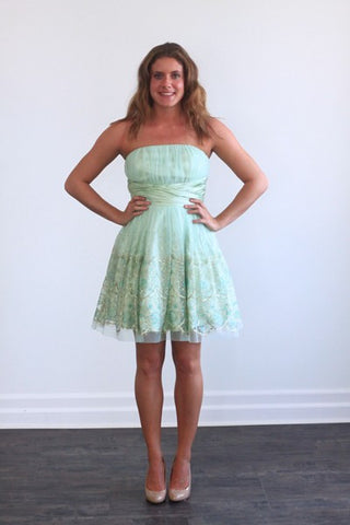 Morgan & Co. Mint Green Short Homecoming Dress