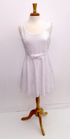 As U Wish White Eyelet Dress with Bow