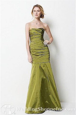 Dramatic Wtoo Green Taffeta Strapless Trumpet Dress