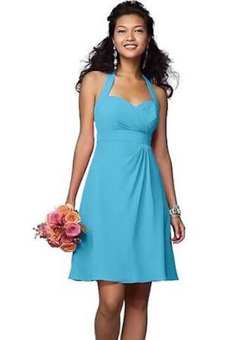 Plus Size Bridesmaid Dress in Sky Blue