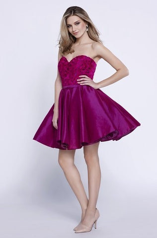 Stunning Magenta Pink Sweetheart Party Dress