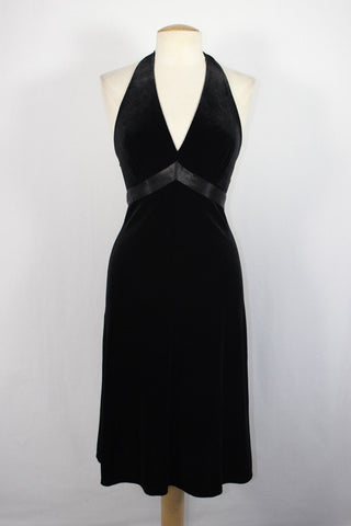 BCBG Velvet Halter Dress | Velvet Holiday Dress | Old Hollywood Dress