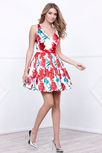 Floral Print Summer Party Dress