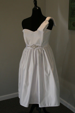 One Shoulder Bow Little White Dress (LWD)