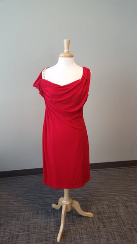 David Meister Red Cocktail Dress