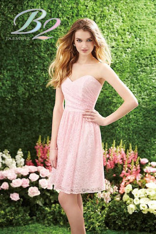 Bridal Shower Pink Lace Dress