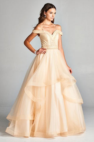 Champaign Formal Ball Gown