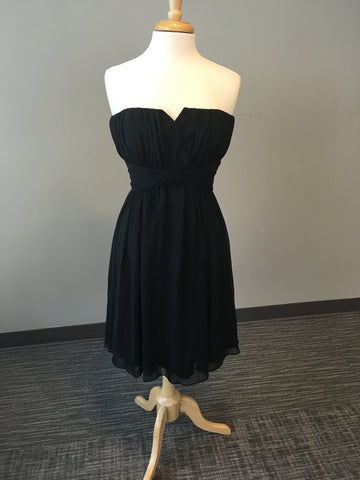 Whbm Black Dress With Sweetheart Neckline Borrowed By Design