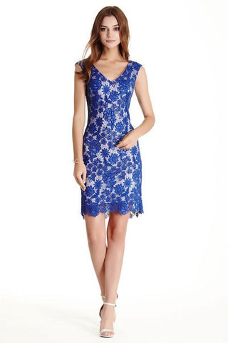 Lace Sheath Summer Cocktail Dress