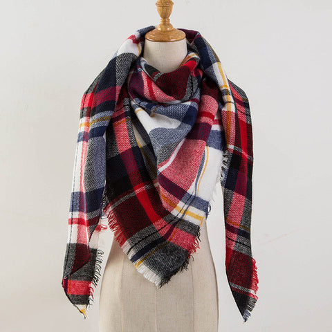 Fall Blanket Cashmere Scarf | Autumn Scarf | Wrap Blanket Scarf | Red