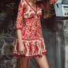 paisley mini dress | long sleeve dress | pattern printed dress | fall dress