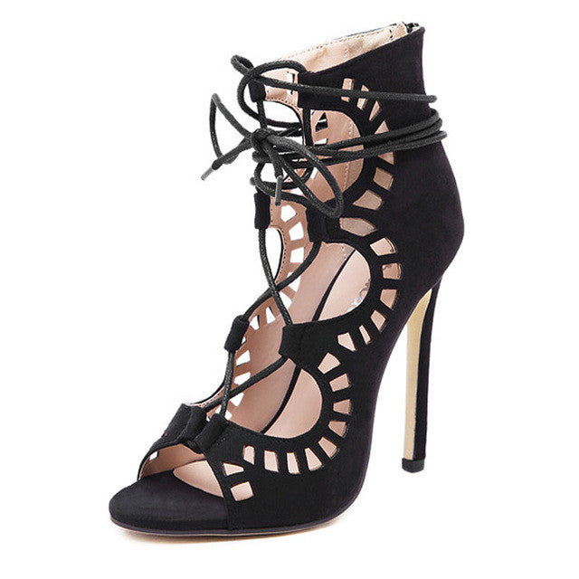 Gladiator Lace Up Sandals – Borrowed by Design 22b00a7c9