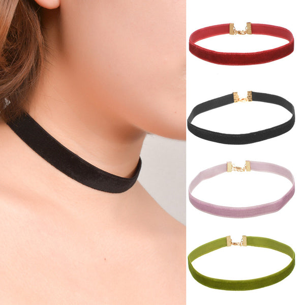 Velvet Choker | Red | Black | Pink | Green