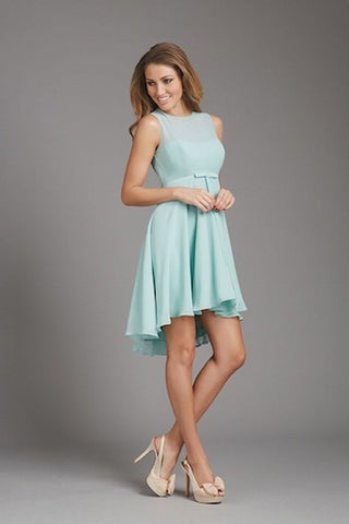 Mint Green Fit & Flare Dress With Bow and Back Cutout
