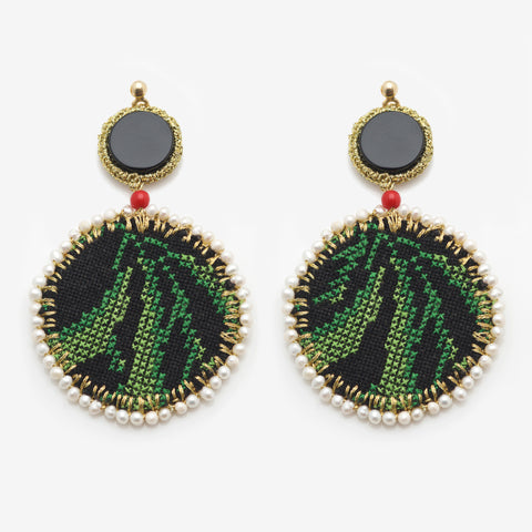 PHILO I EMBROIDERED EARRINGS