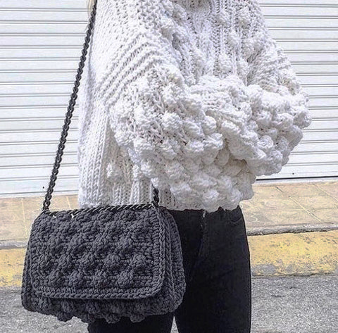 Knot | Crochet Bag |Grey