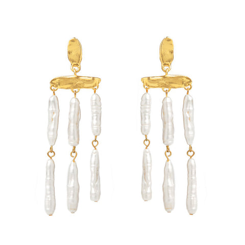 Cecile | 24K Gold Earrings
