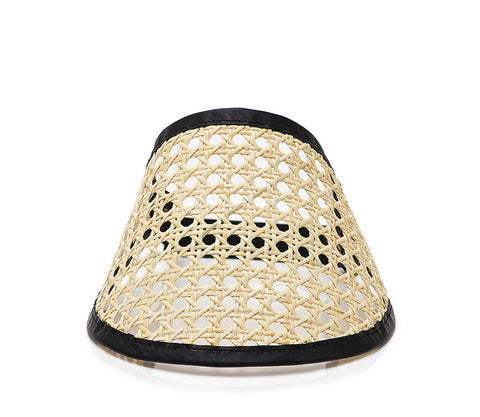 VIENNESE STRAW LEATHER Visor