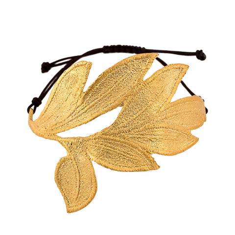 DAPHNE 24K GOLD-PLATED CUFF