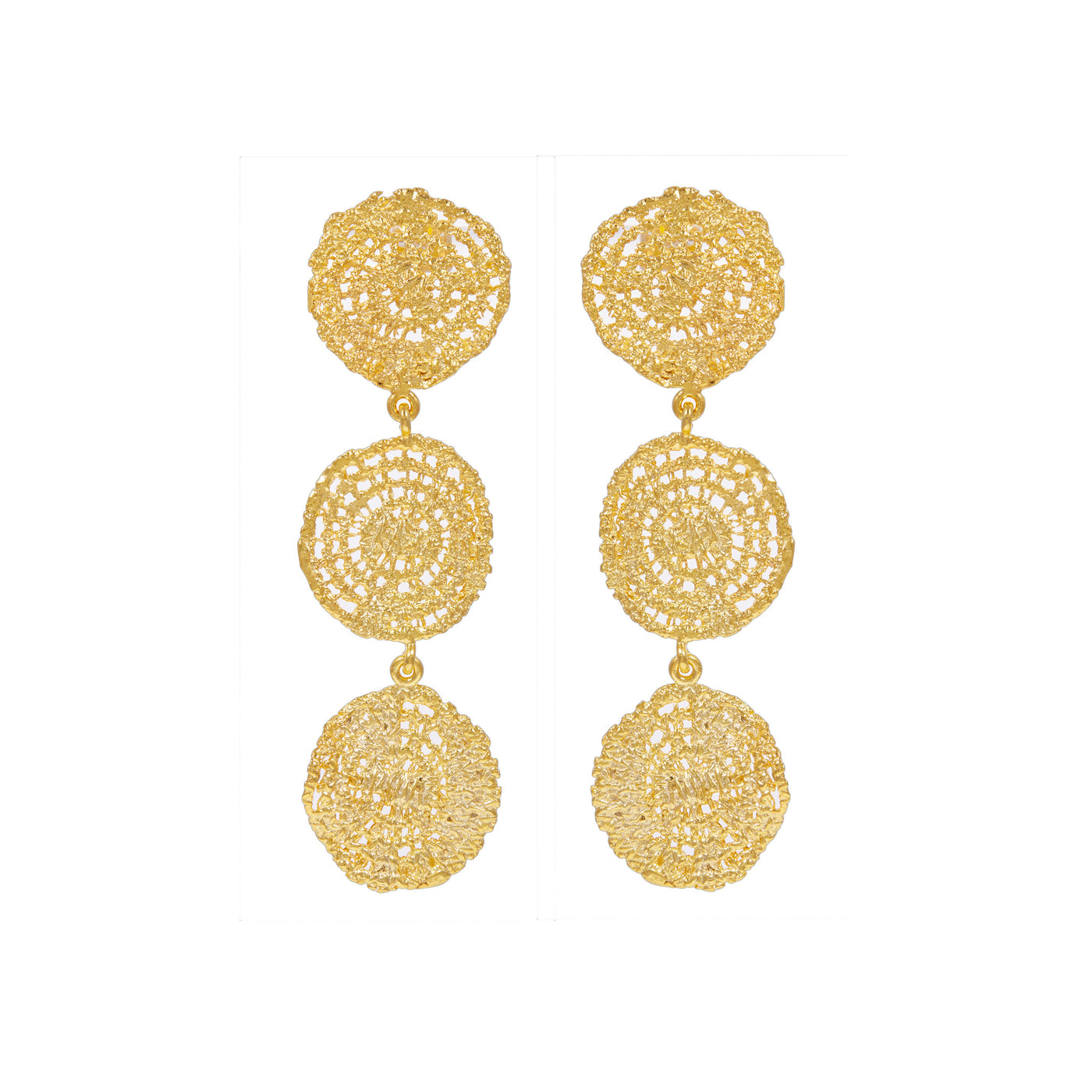 SONAR GOLD-PLATED EARRINGS