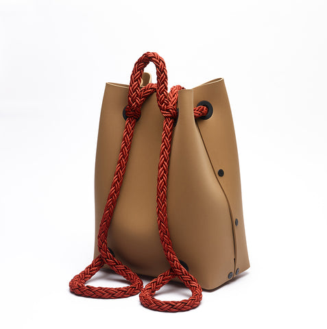 TAN / RED BACKPACK