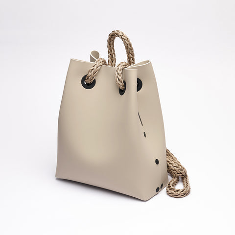 BACKPACK - Stone  / Beige rope