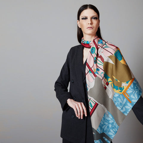 IN BLOOM I SILK SCARF 90cm