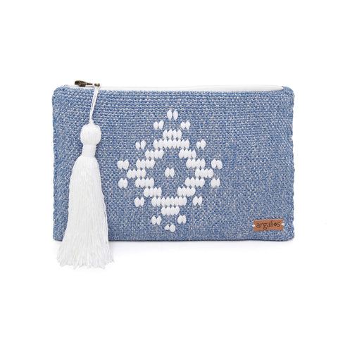 WOVEN COTTON CLUTCH