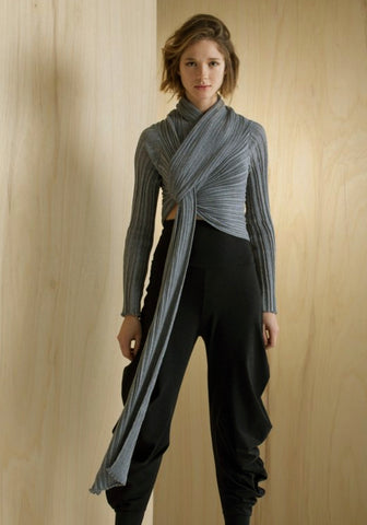 STEEL I WRAP CARDIGAN