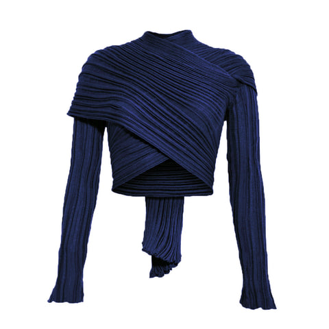 ROYAL BLUE I WRAP CARDIGAN