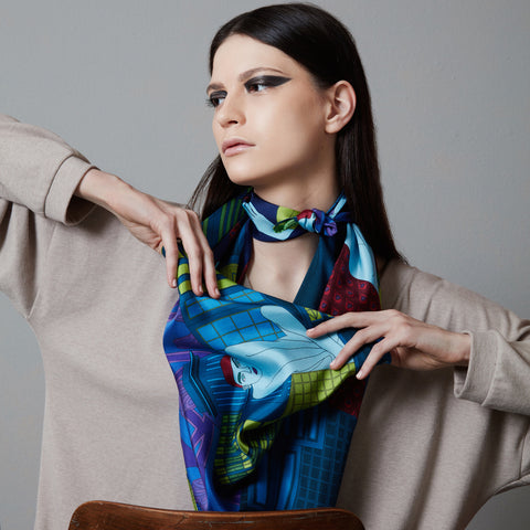 Loneliness | Silk Scarf 90
