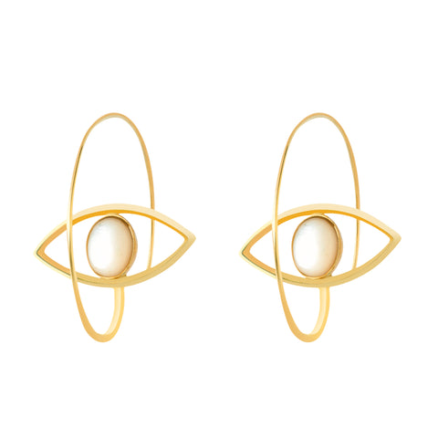 EYE 24k GOLD-PLATED EARRINGS
