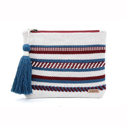 KARPATHOS I WOVEN LEATHER CLUTCH