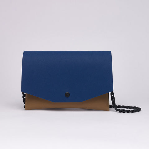 Clutch | Blue/Tan