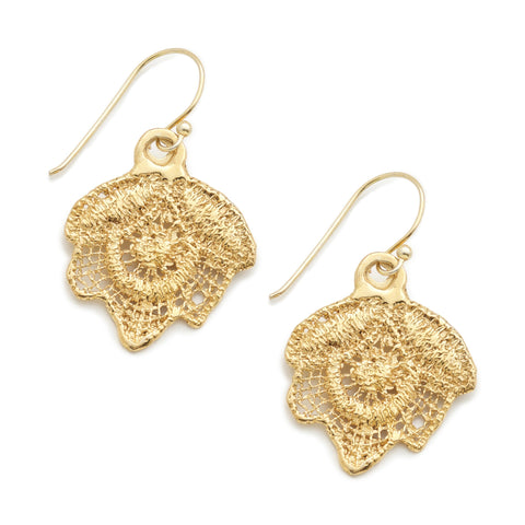 LOU LOU 24k GOLD-PLATED EARRINGS