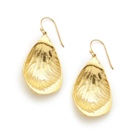 PETAL 24k gold plated EARRINGS - MEDIUM