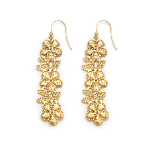 FLORALE 24k GOLD-PLATED EARRINGS