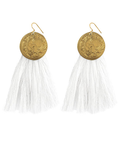 NAIROBI EARRINGS white