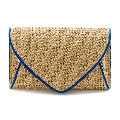 Lily Rose Envelope Clutch Bag - Indigo