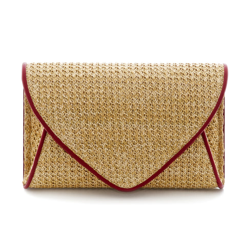 Lily Rose Envelope Clutch Bag - Auburn