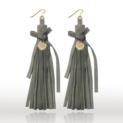 LIBERTY BOW I  SUEDE EARRINGS
