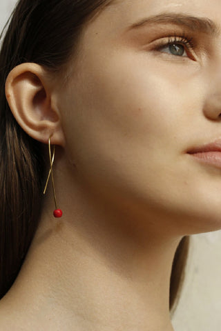 Carnelian | 24K Gold Earrings