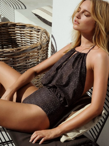 AMBER ONE-PIECE - Dark Brown/Gold