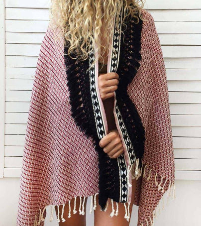 Herringbone Beach Cape + Towel