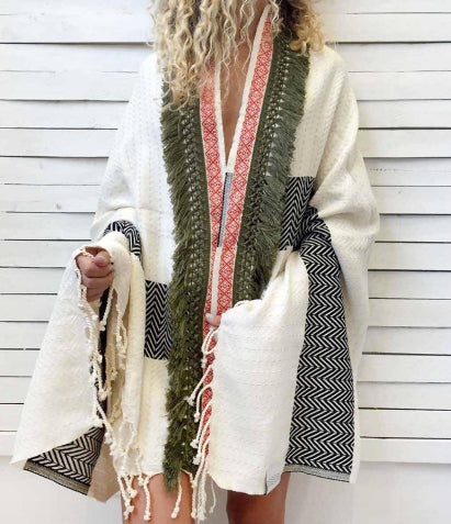 Herringbone Beach Cover Up + Towel