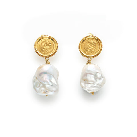 LOST SEA HERCULES I 18K GOLD EARRINGS