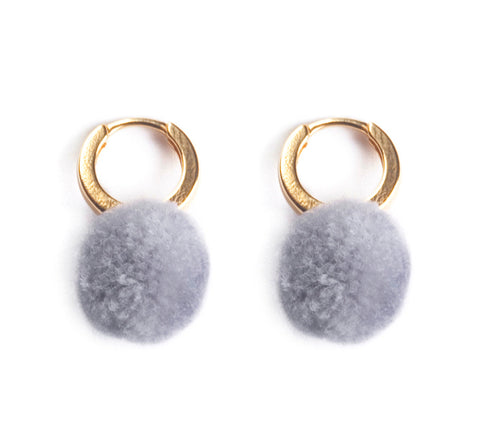 Delian 24K gold Earrings Grey