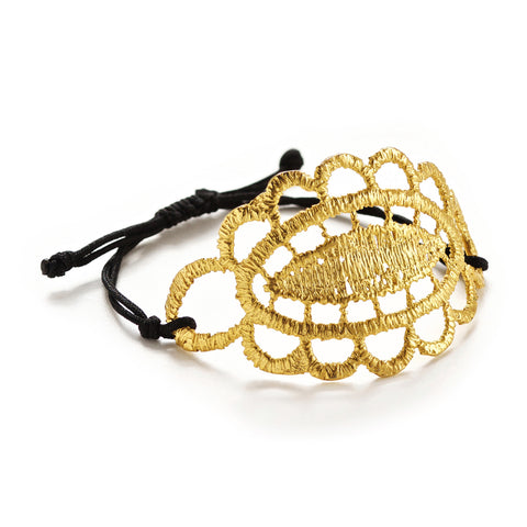 HONEYCOMB 24k GOLD-PLATED BRACELET