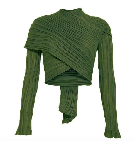CHIVES  I WRAP CARDIGAN