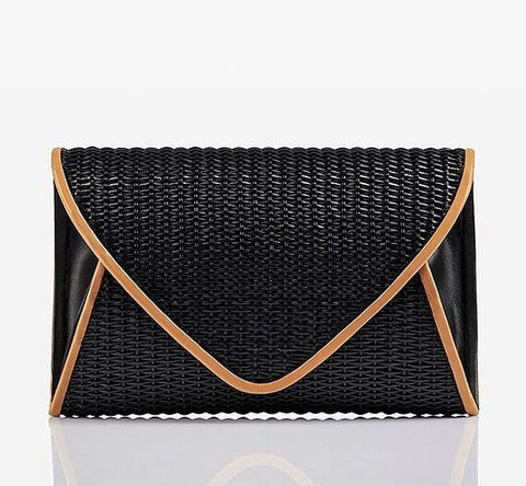 Lily Rose | Black/Tan Clutch